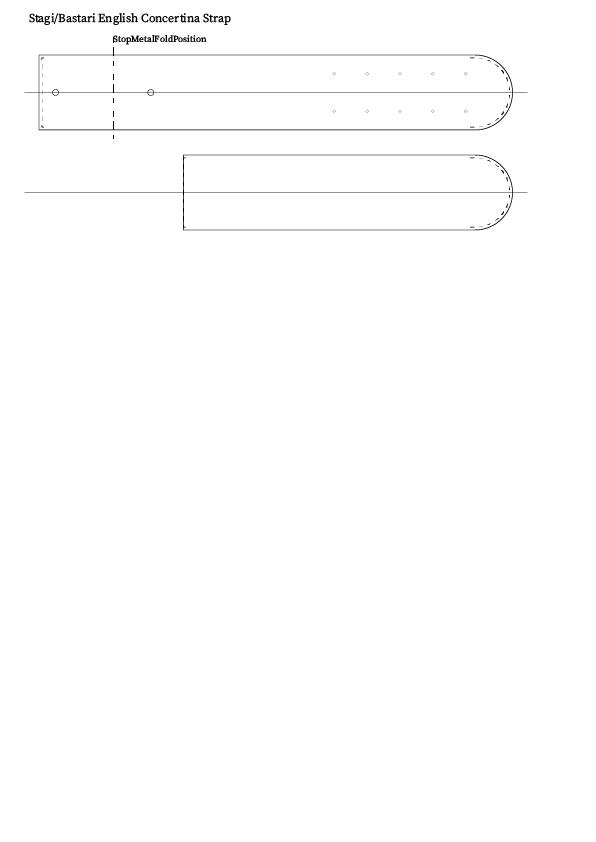 Stagi/Bastari English Concertina 親指ストラップ(ベルト) 制作 型紙
